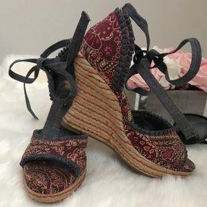 Rampage Shoes - Rampage High Heel Strap Wedges